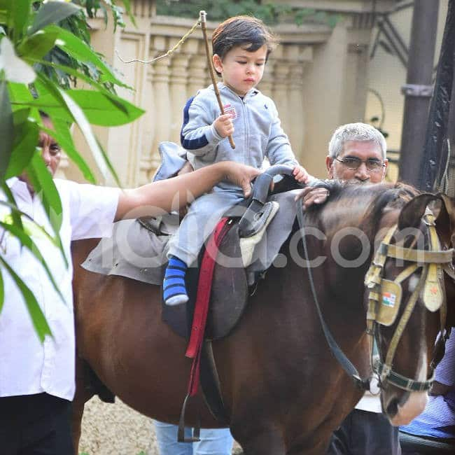 Little kid seemed careful while riding the horse