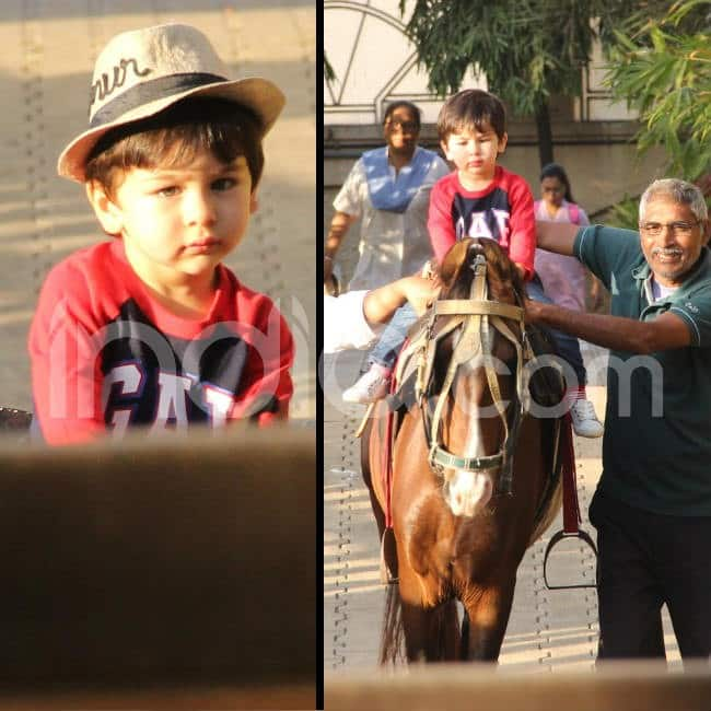 Little Taimur looked cute in hat
