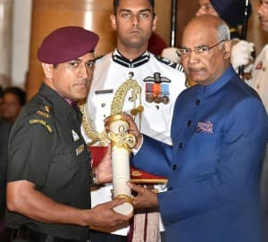 IN PICS: Mahendra Singh Dhoni receives Padma Bhushan in his Territorial Army uniform