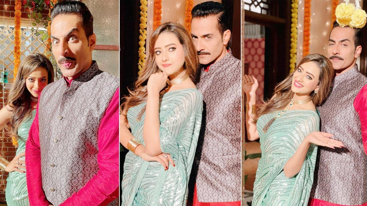 Madalsa Sharma Welcomes Sudhanshu Pandey on Sets of Anupamaa