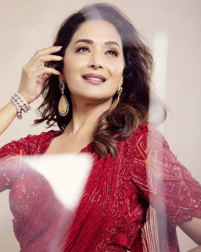 Madhuri Dixit continues to mesmerise her beauty