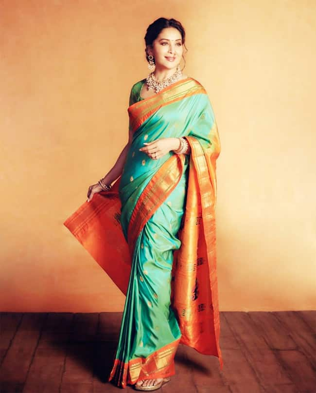 Madhuri Dixit is The Definition of Grace And Beauty in a Silk Saree