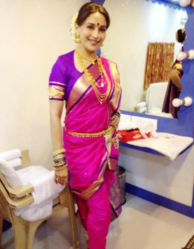 Madhuri Dixit looks beautiful in a Marathi look