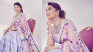 Madhuri Dixit Just Wore The Most Gorgeous Looking Purple Lehenga And it Has Pockets   See Pics