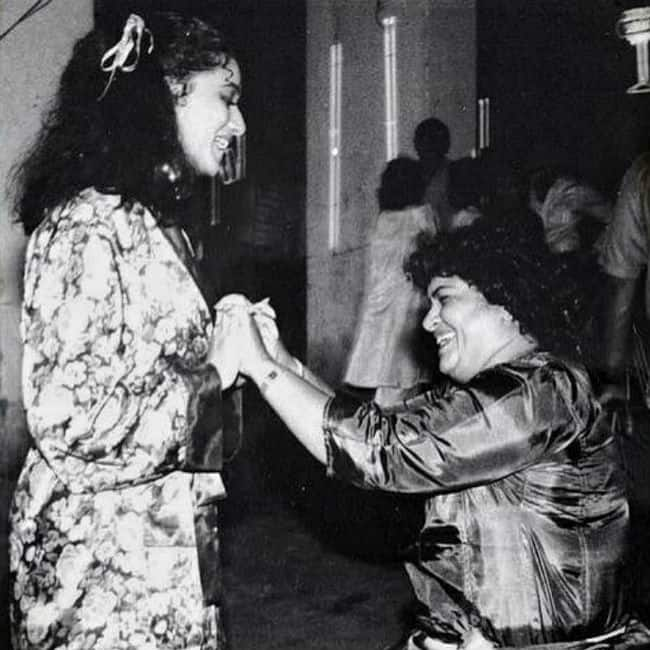 Madhuri Dixit talks about her special bond with mother figure Saroj Khan in a heartfelt note