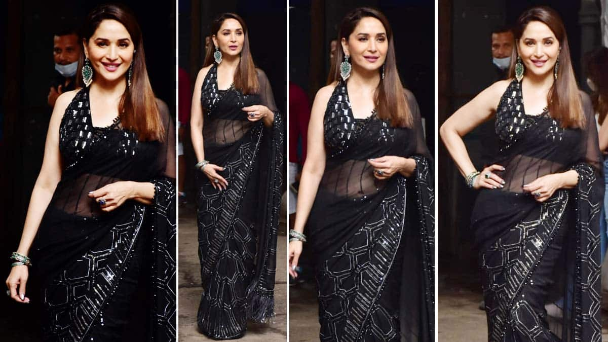 Madhuri Dixit was spotted on the sets of Dance Deewane