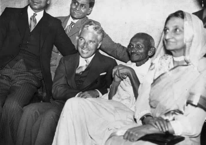 Mahatma Gandhi   s picture with Charlie Chaplin