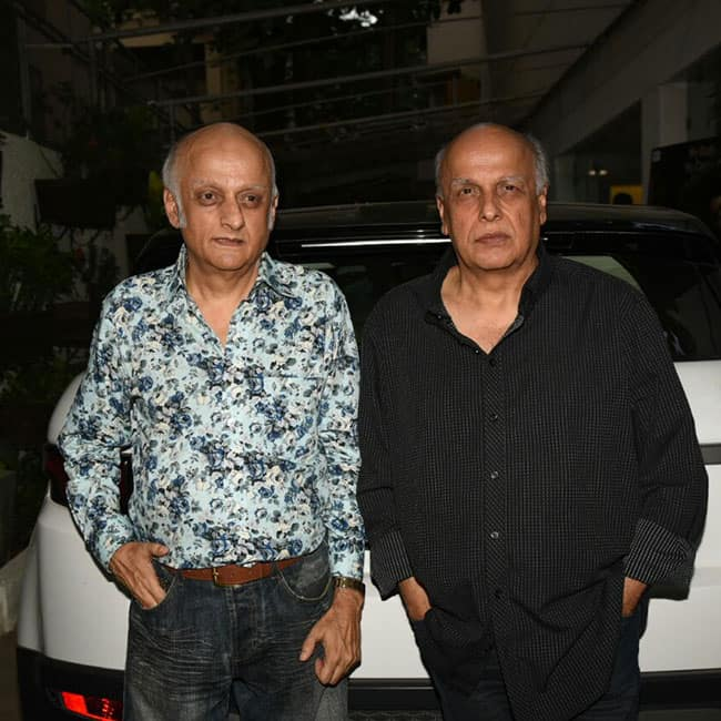 Mahesh Bhatt with Mukesh Bhatt at 30th anniversary of Vishesh films