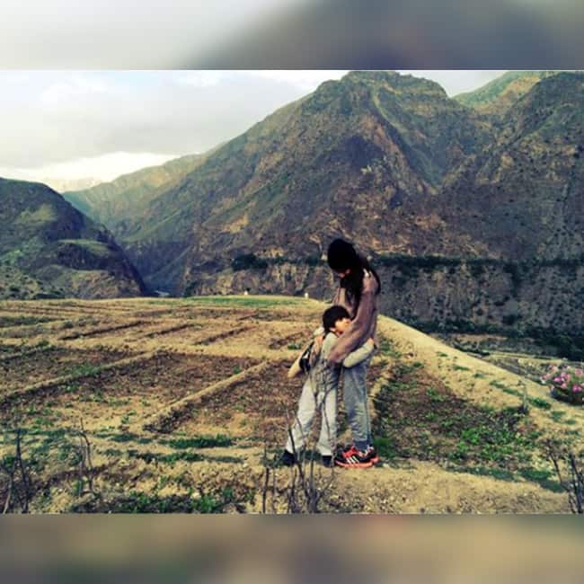 Mahira Khan on a holiday with son Azlaan