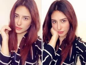 Mahira Sharma Looks Sexy in Black Shirt, See Photos
