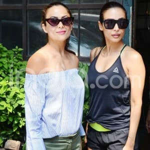 Malaika Arora-Amrita Arora Sweat it Out at Gym Together Before Posing For The Cameras