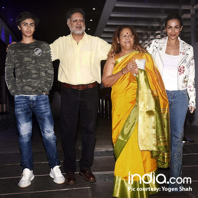 Malaika Arora Khan with her family at Helen   s birthday bash
