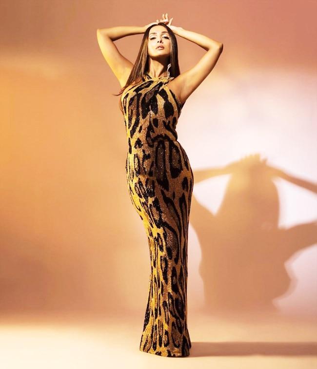 Malaika Arora   s Dress Features a Halter Neckline