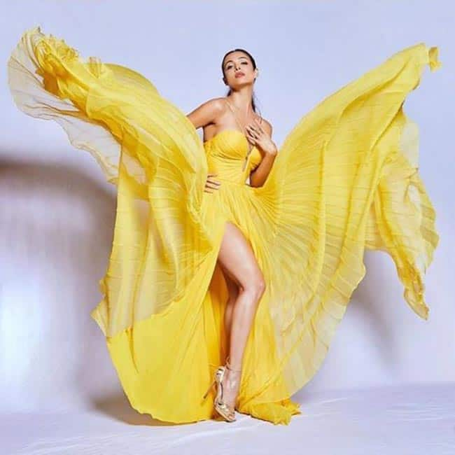 Malaika Arora   S Latest Photoshoot in Flurry Yellow Dress Will Take Your Breath Away