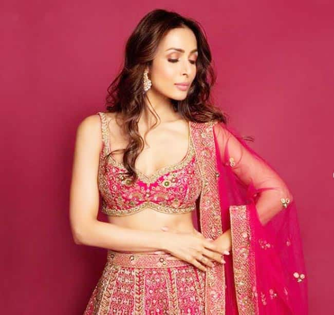 Malaika Arora   s Latest Pictures in Pink Lehenga Are Proof That She is Going to be Gorgeous Bride to Arjun Kapoor