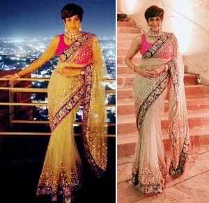 Mandira Bedi Steals The Show in a Sexy Shimmery Saree, See Photos