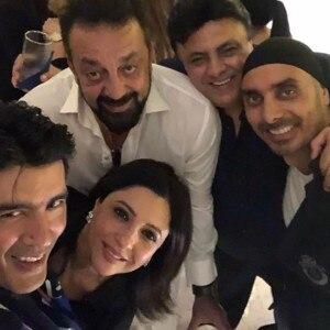 Sanjay Dutt, Raveena Tandon and other celebs at Manish Malhotra's house party