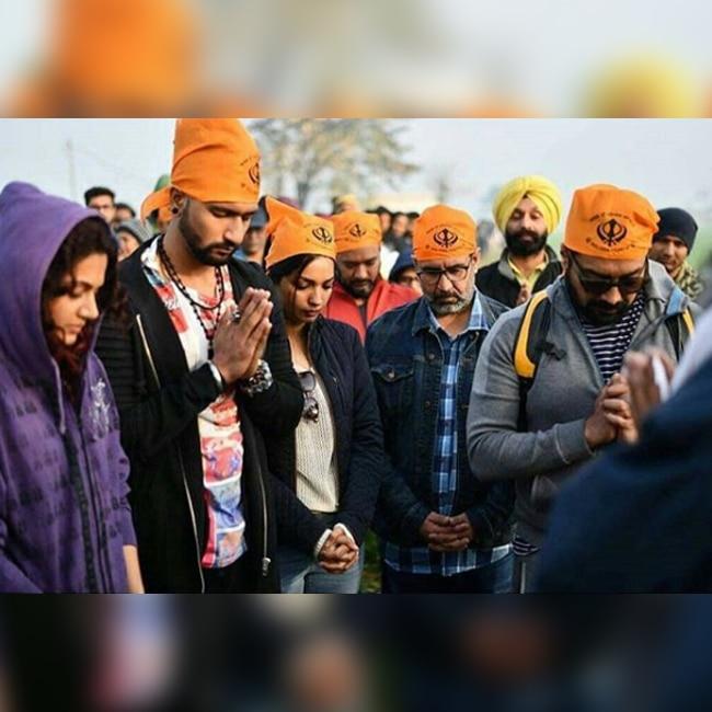 Manmarziyaan team at Golden Temple in Amritsar