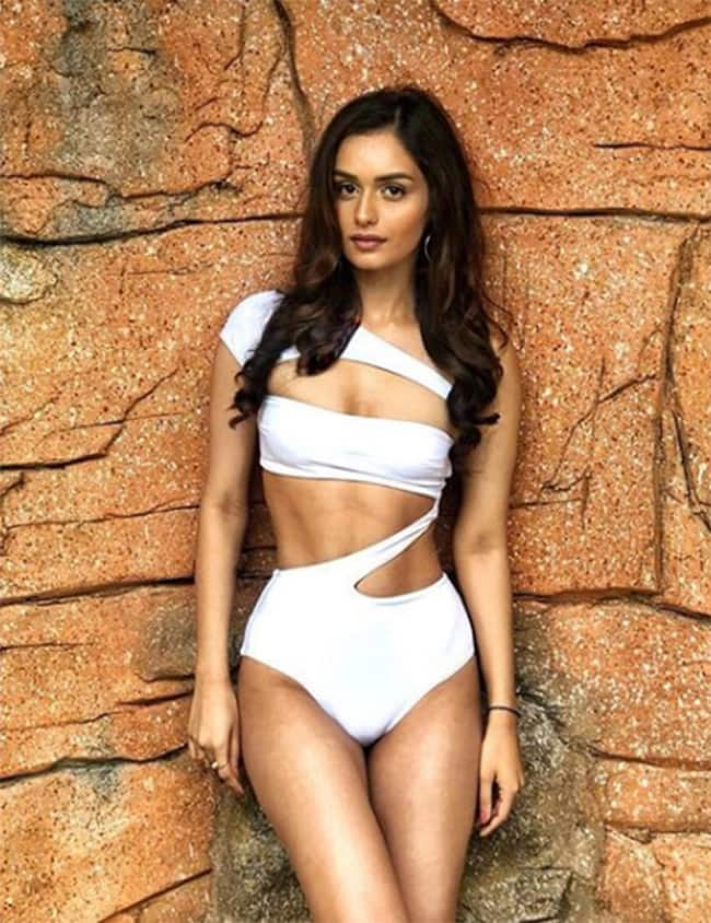 Manushi Chhillar looks hot in white bikini