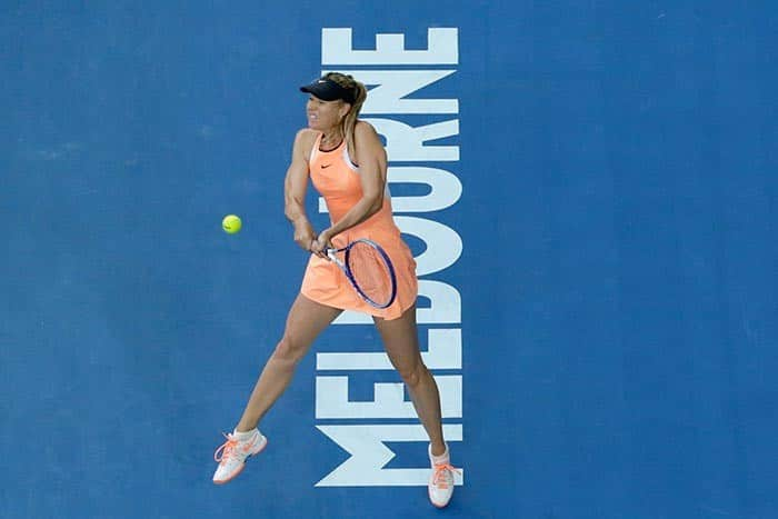 Maria Sharapova clicked during Australian Open 2016     Day 1