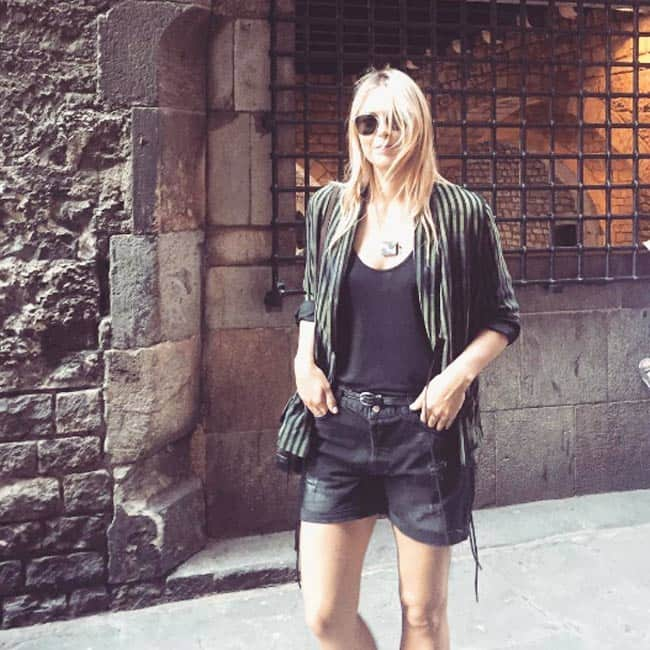 Maria Sharapova snapped at Barcelona in Spain