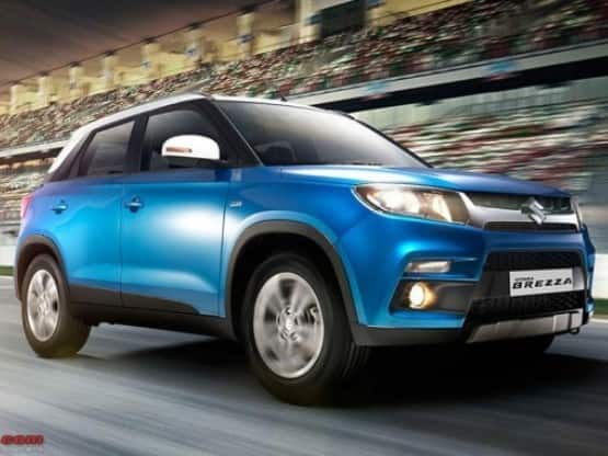 Maruti Suzuki  India  039 s largest carmaker is all set to introduce the much  awaited compact SUV  Maruti Vitara Brezza at the Delhi Auto Expo 2016  The new sub 4 metre SUV will be positioned bwlow S Cross crossover and directly rival against the likes of the Mahindra TUV300 and the Ford EcoSport  Image Courtesy  Team BHP