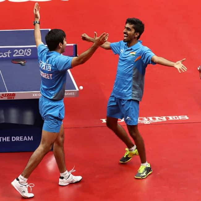 Men   s table tennis won gold medal