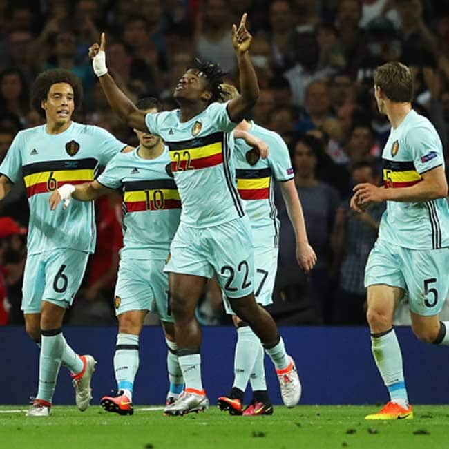 Michy Batshuayi clicked during UEFA Euro 2016 Round of 16 match