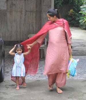 Mommy-to-be Mira Rajput Spotted Stepping out of Misha's Play School And We Can See A Baby Bump