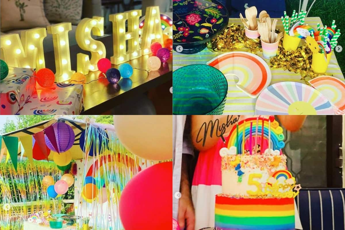 Misha Kapoor   s birthday bash is all about rainbow  bright colours  and less complicated decor