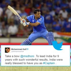 M S Dhoni quits as a captain of Indian ODI team: Here's how Sachin Tendulkar , Mohammad Kaif and other Twitteratis react to the news!