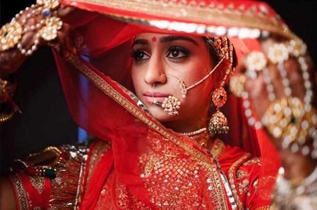Mohena Kumari Singh as Sabyasachi bride
