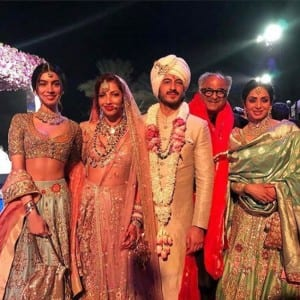 Sonam Kapoor with boyfriend Anand Ahuja, Arjun Kapoor at cousin Mohit Marwah's UAE wedding