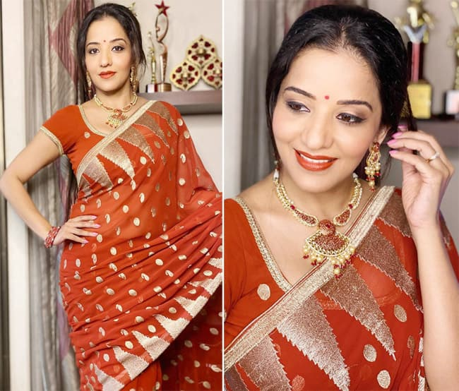 Monalisa is making her Thursday interesting with old saree pictures