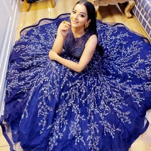 Bhojpuri Star Monalisa Looks Ethereal in a 'Fairytale' Blue Gown, Leaves Netizens Drooling Over Her Beauty