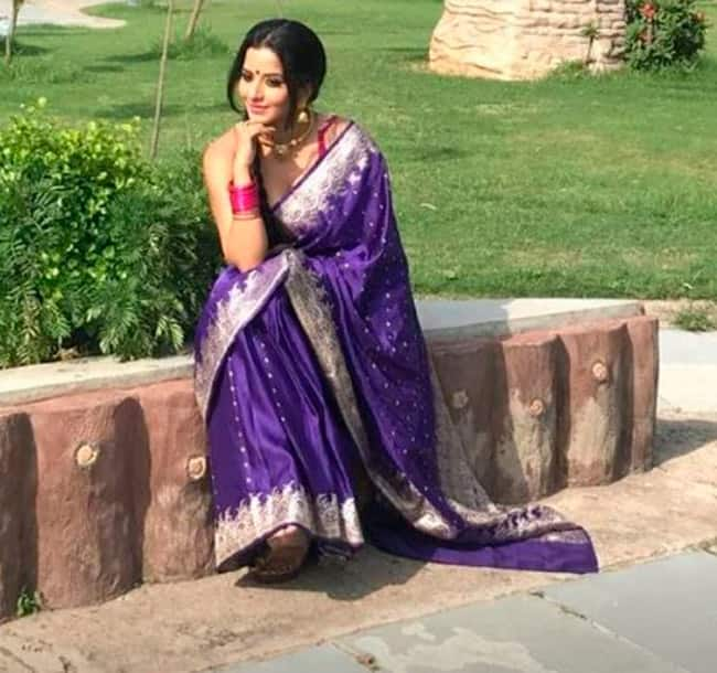 Monalisa Raises The Temperature With Her Saree Pictures
