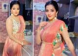 Bhojpuri Bombshell Monalisa Looks Drop-Dead Gorgeous in Banarsi Silk Saree, Actor Shares Her Sultry Pictures From The Sets of MasterChef India
