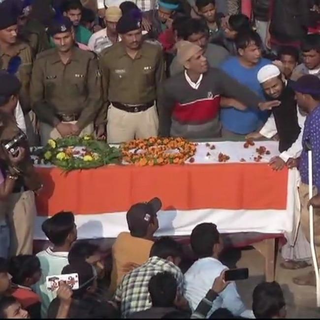 Mortal remains of CRPF jawan Mujahid Khan brought in village