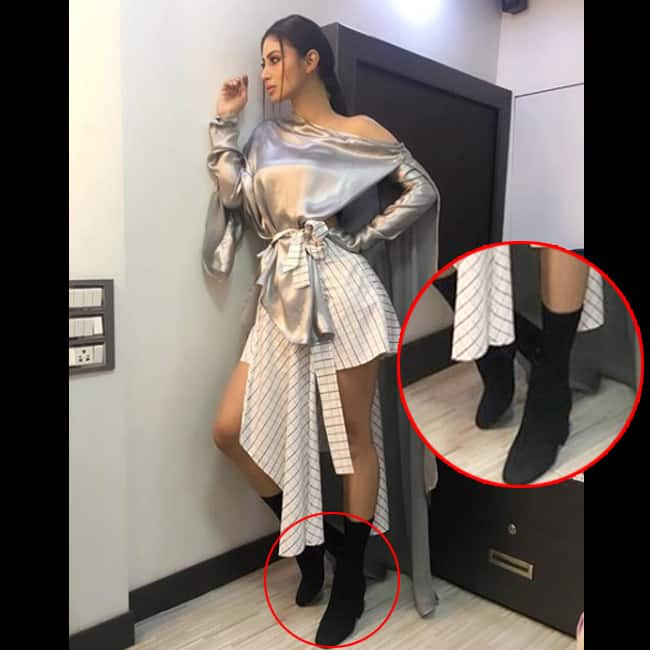 Mouni Roy and her black boots