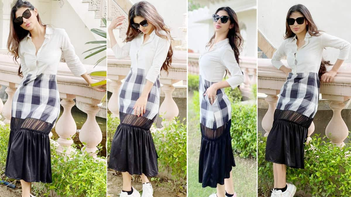 Mouni Roy Channels Her Inner Seductress in This Beautiful Check Dress  PICS
