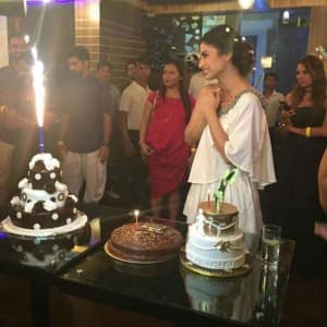 Mouni Roy rings in her 31st birthday with boyfriend Mohit Raina and friend, see inside pics!