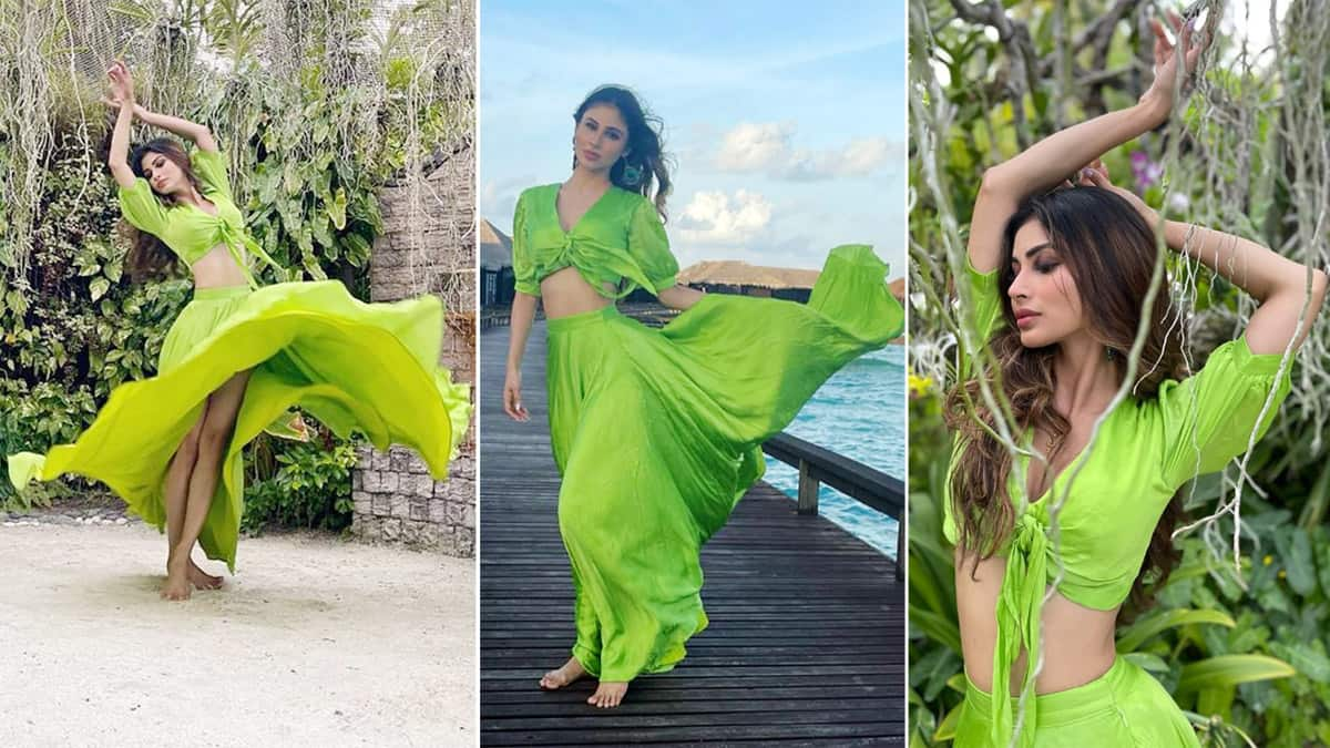 Mouni Roy is a Green Mermaid in Her Hot New Pictures From The Maldives