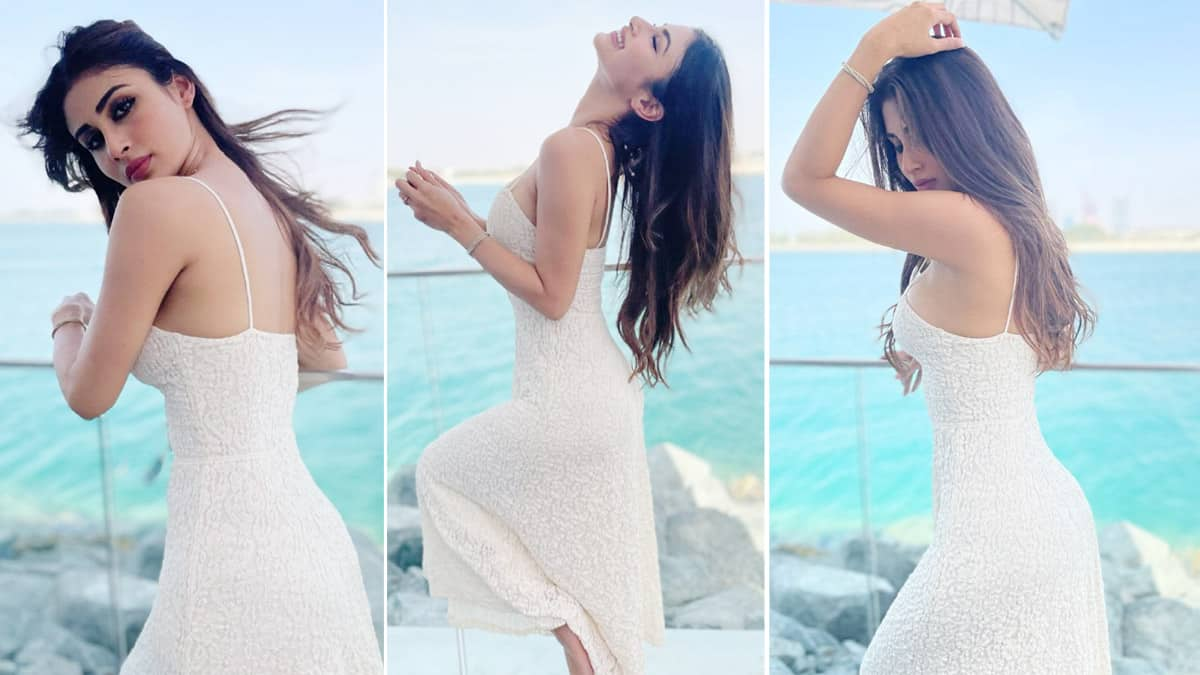 Mouni Roy is Exuding Hotness in Strappy White Dress  View Photos