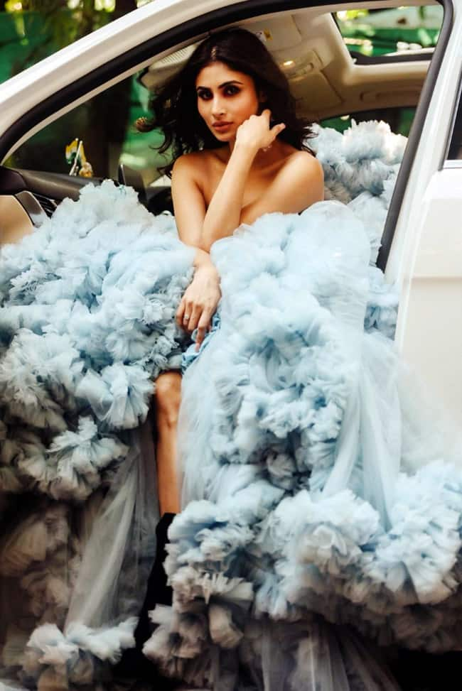 Mouni Roy looking fabulous in her heavy tulle gown