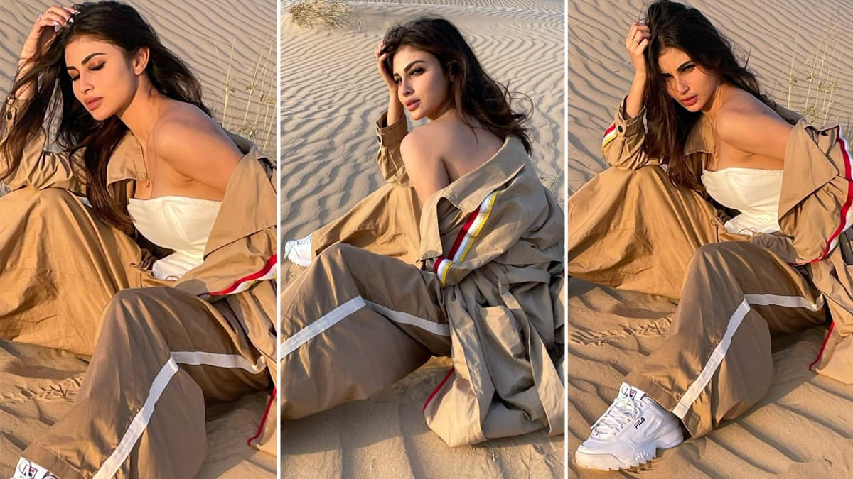 Mouni Roy Looks Hot As She Poses Midst of Desert
