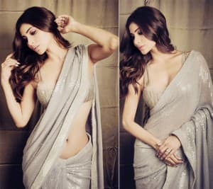 Mouni Roy is a Bold Diva in Sequined Saree As She Flaunts Her Perfect Curves!