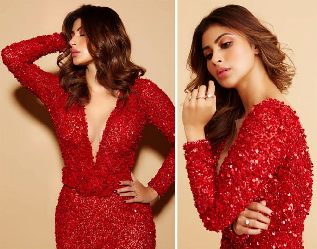 Mouni Roy Paints The Town Red in Gorgeous Shimmery Dress