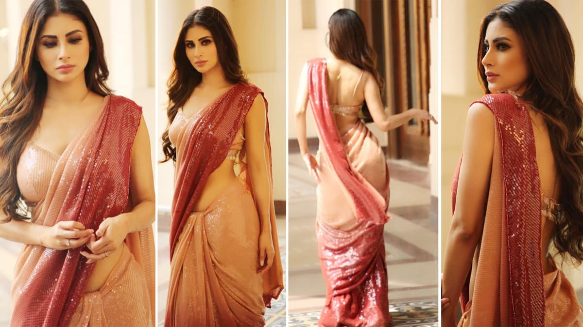 Mouni Roy sizzles in a sexy saree in latest photoshoot