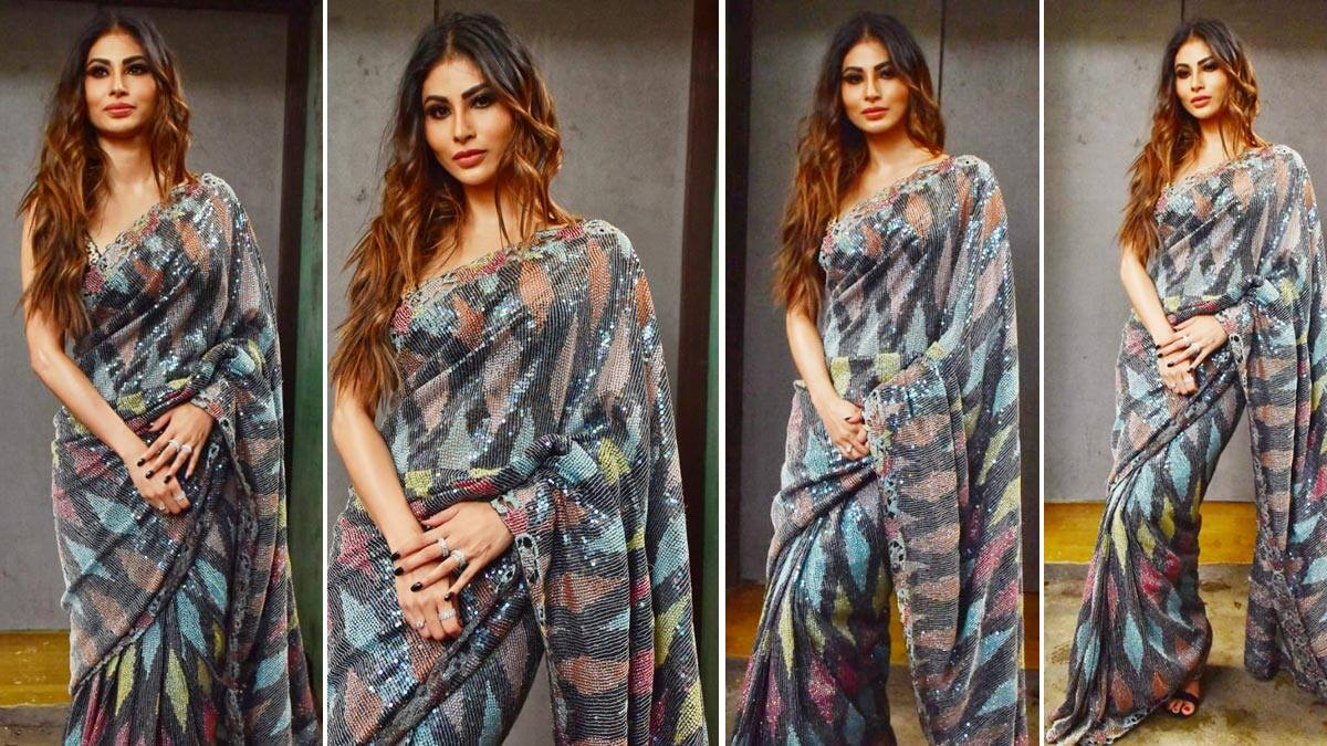 Mouni Roy Turns Up The Heat In Sequinned Saree
