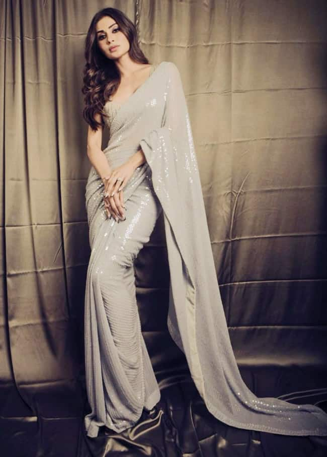 Mouni Roy   s Look in Sequined Saree is a Must For All Saree Lovers
